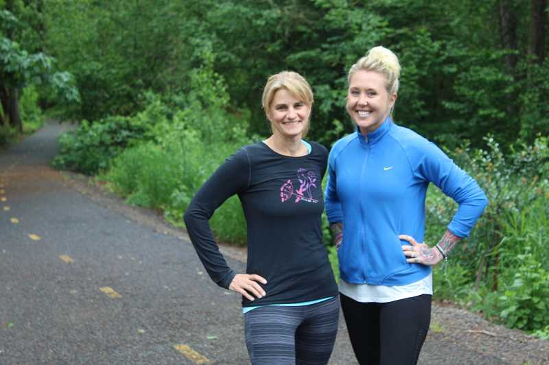 PMG PHOTO: COREY BUCHANAN - Keegan Chastain and Trisha Swanson are organizing a 5-kilometer race at Willamette Park to promote the Reason to Run nonprofit organization