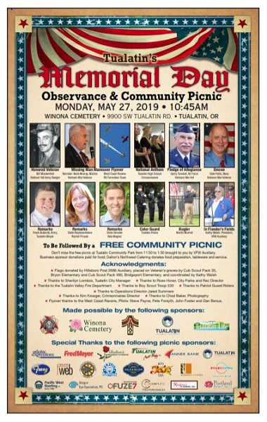 COURTESY OF DALE POTTS - The roster for Mondays Memorial Day events is jam-packed and will include honored veteran Bill Manderfeld, a U.S. Army Ranger during the Vietnam War.