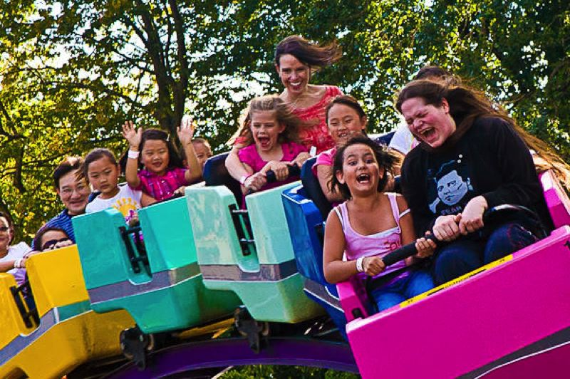CONTRIBUTED - Visitors to the Multnomah County Fair can also enjoy the rides at the Oak Amusement Park.