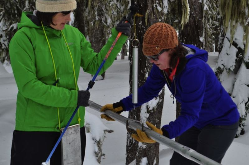 PMG FILE PHOTO - Julie Koeberle with the Oregon Snow Survey hopes to visit Mount Hood for an in-person reading of the snowpack again next year.