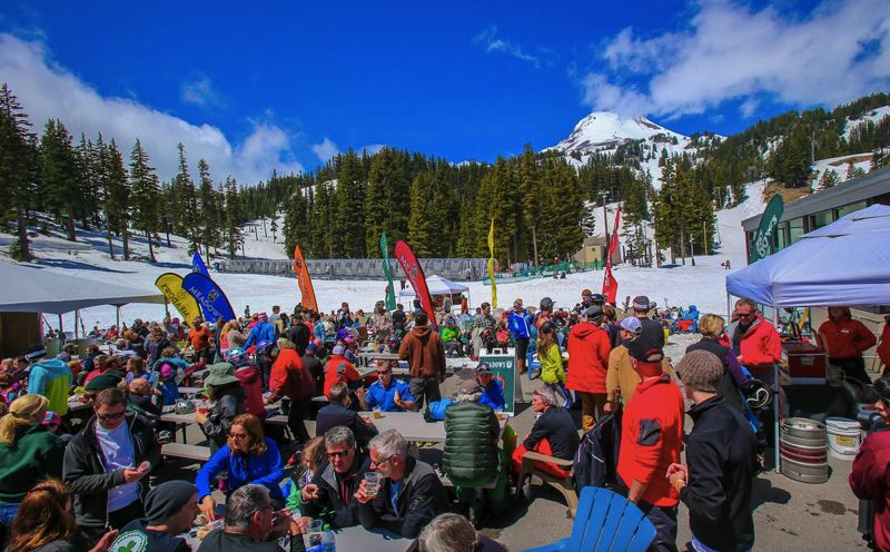 COURTESY PHOTO - There will be a handful of games, including bocci ball, corn hole, large format Jenga and the Seymour's Fort playground on the deck at Mt. Hood Meadows Memorial Day weekend.