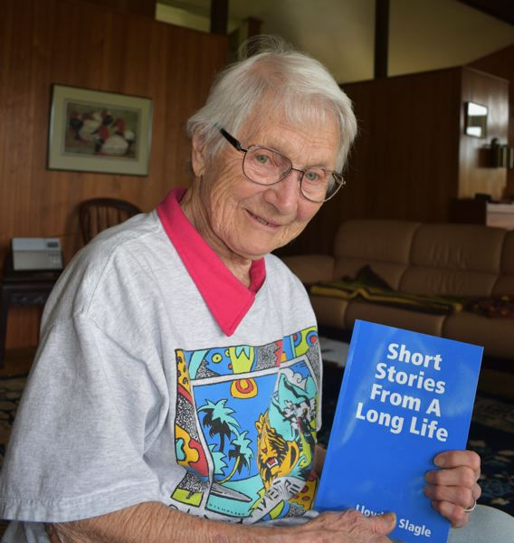 PMG PHOTO: TERESA CARSON - The books editor Marianne Ott shows off the product.