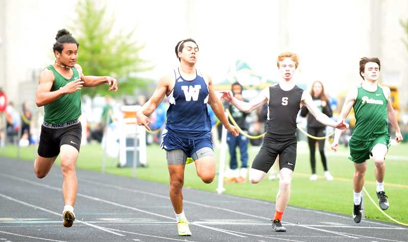 PMG PHOTO: TANNER RUSS - Wilsonville senior Henry Tellez will be a part of the qualifying 4x100-meter relay team that will head to state.