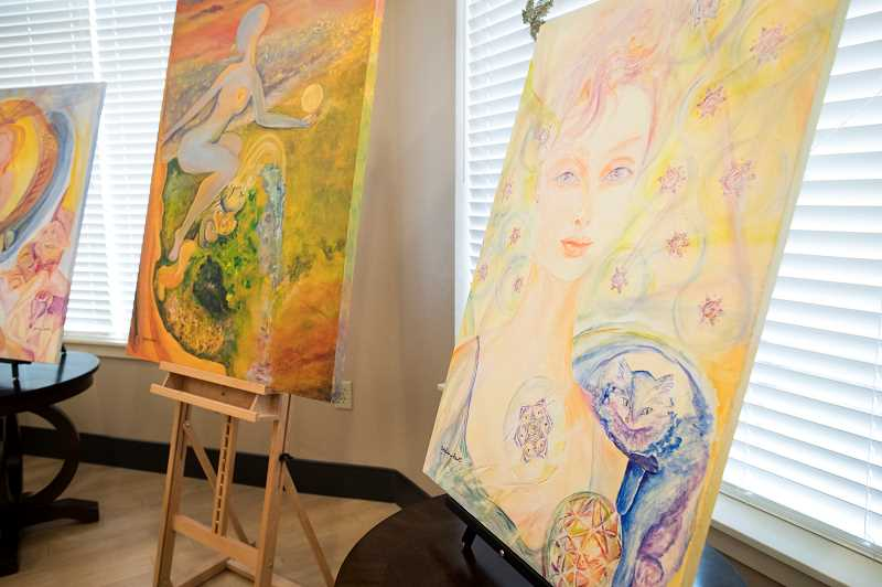 PMG PHOTO: JAIME VALDEZ - Artwork from Pam Benet was featured at Marquis Post Acute Rehab Center in Tualatin last Friday.