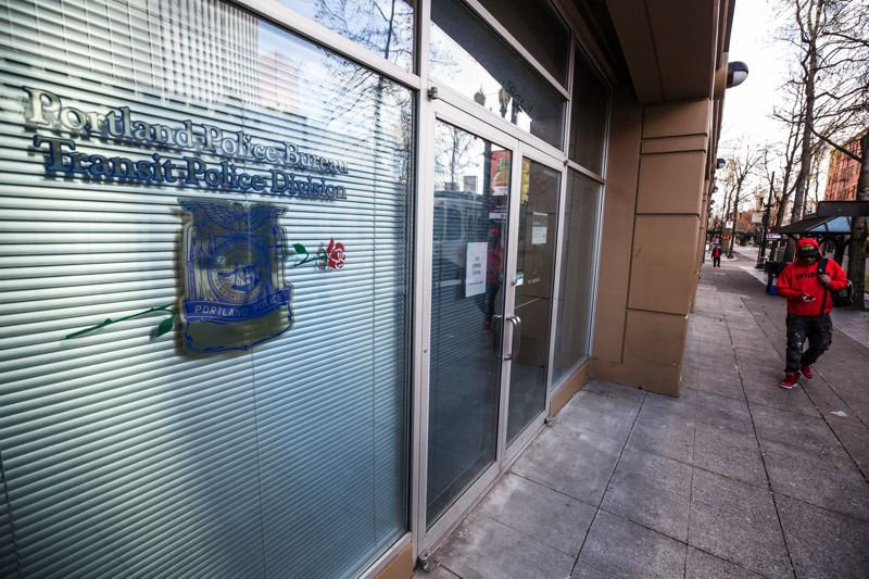 FILE PHOTO - The Portland Transit Police Division headquarters in Old Town.