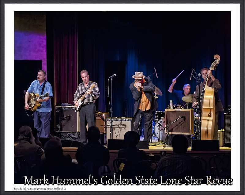 COURTESY PHOTO  - From left are Mike Keller, Anson Funderburgh, Mark Hummel, Wes Starr and R.W. Grigsby of the Golden State Lone Star Revue, performing May 27 at Lake Theater and Cafe.