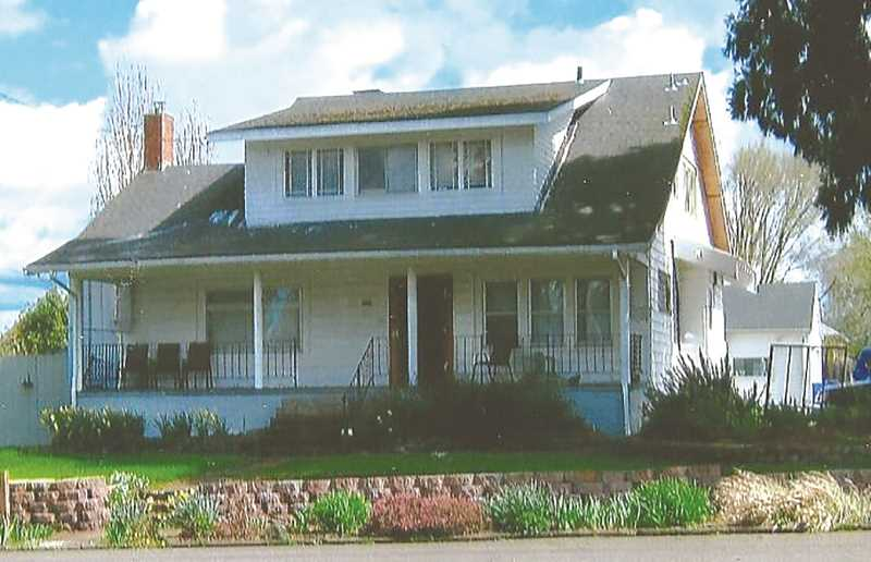 COURTESY PHOTO: GAIL J. MCCORMICK - The George V. & Kate Adams House is located at 521 South Molalla Avenue in Molalla, Oregon. Although the outside of the house has changed somewhat, it still resembles the original Craftsman Bungalow Style of architecture. It is privately owned. Author's photo.
