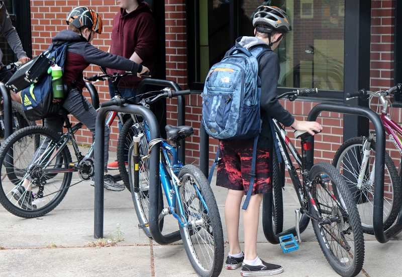 COURTESY PHOTO: ANDREW KILSTROM - Rosemont Ridge students participate in National Walk and Bike to School Day May 15.