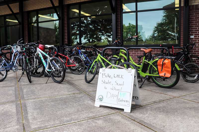 COURTESY PHOTO: ANDREW KILSTROM - About 40 Rosemont Ridge students biked and 110 students walked to school May 15.