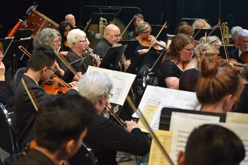 COURTESY PHOTO: MT. HOOD POPS ORCHESTRA - For its spring concert on Sunday, May 26, the Mt. Hood Pops Orchestra will be led by conductor Andre Gaspar, the new orchestra and band director at Reynolds High School.