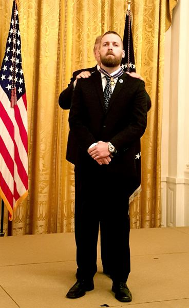 COURTESY PHOTO - Oregon State Police Trooper Nic Cederberg received the National Public Safety Officer Medal of Valor May 22 at a White House ceremony.