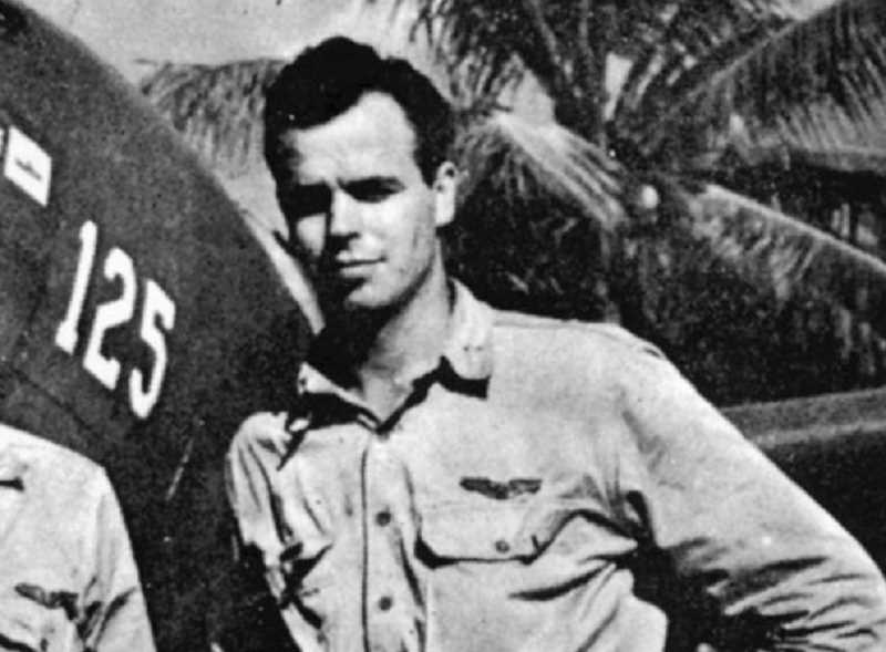 SUBMITTED PHOTO - In the spring of 1944, the parents of Rex Barber, a fighter pilot from Culver serving in the Pacific theater, were notified that their son has been reported as missing in action since April 29. (His plane was shot down and he bailed out over China, was treated by Chinese civilians and returned after five weeks.)