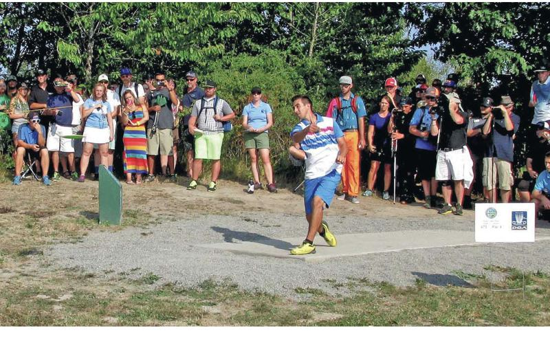 PMG FILE PHOTO - The Professional Disc Golf Association returns to Blue Lake Disc Golf Course in Fairview, where the PDGA Pro World Championship took place in 2014 (above, eventual winner Paul McBeth).