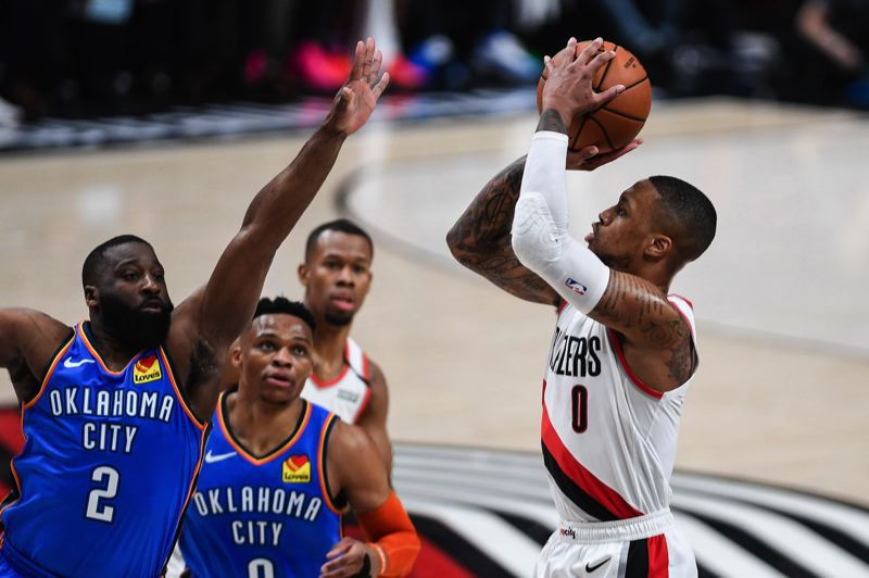 PMG PHOTO: CHRISTOPHER OERTELL - Damian Lillard has received all-NBA second-team honors for the 2018-19 season.