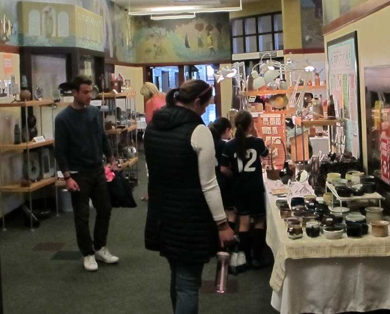 PMG PHOTO: BILL GALLAGHER - The annual Spring Arts and Crafts sale at the Multnomah Arts Center.