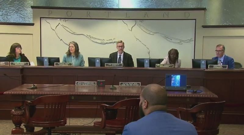 KOIN 6 NEWS - The City Council during the Thursday, May 23, budget hearing.