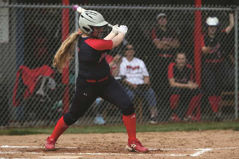 PMG PHOTO: PHIL HAWKINS - Junior Emily Cuff was 2-for-4 with a pair of runs and two RBIs in the victory.