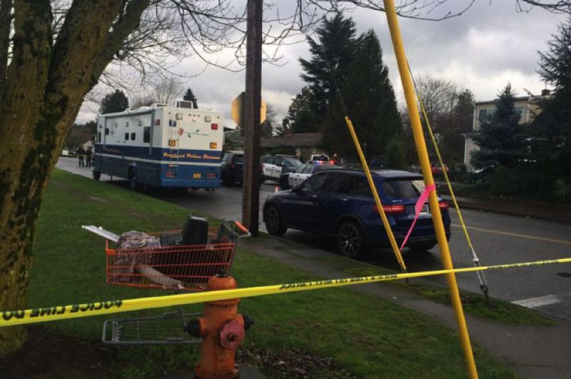 KOIN 6 NEWS IMAGE - The scene of a fatal officer-involved shooting on Jan. 6 in Southeast Portland is shown here.