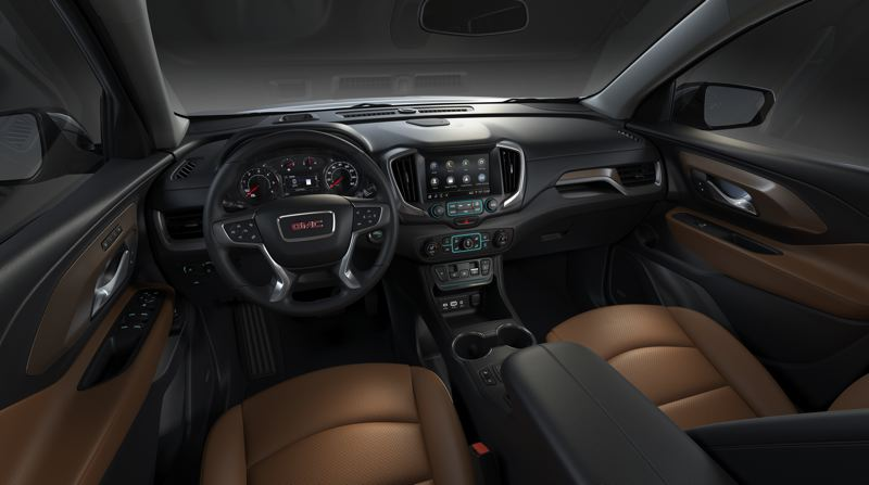 COURTESY GMC - The interior of the 2019 GMC Terrain is thoroughly modern and available with a wide range of infortainment and safety features.