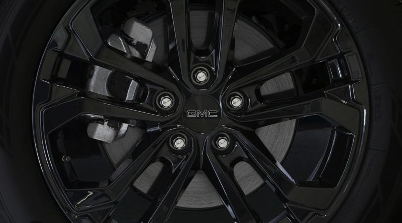 COURTESY GMC - The Black Edition package features all-black 19-inch wheels.