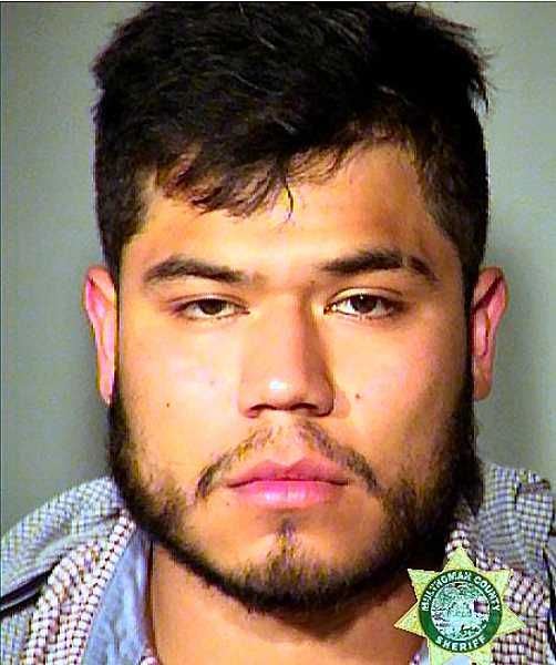 MCDC BOOKING PHOTO - Carlos F. Zamora, age 22, was arrested and booked at the Multnomah County Detention Center for Driving Under the Influence of Intoxicants, and three other felonies.