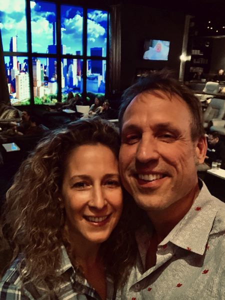 COURTESY: STUDIO ONE THEATERS - Shelly and Rudyard Coltman in the New York penthouse at their new cinema Studio One Theaters in Southeast.