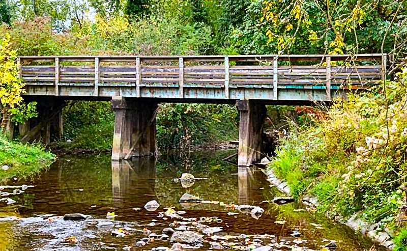 COURTESY OF PP&R - Parks officials say the removal of the old bridges footings from Johnson Creek will improve fish habitat and decrease debris build-up.