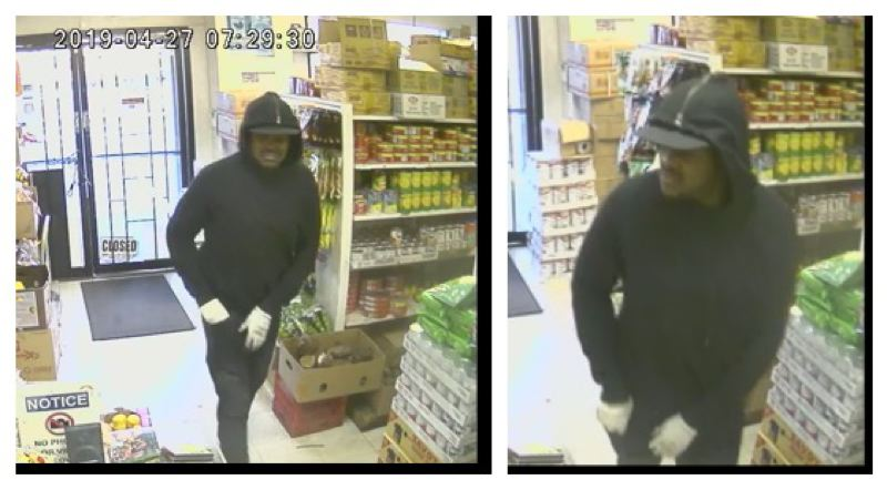 COURTESY PPB - An armed suspect robbed the Saigon Market on 82nd Avenue in late April.