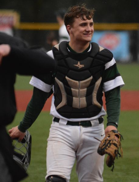 PMG PHOTO: DAVID BALL - Estacada senior Nick Keller was voted to the all-Tri Valley Conference baseball team at catcher.