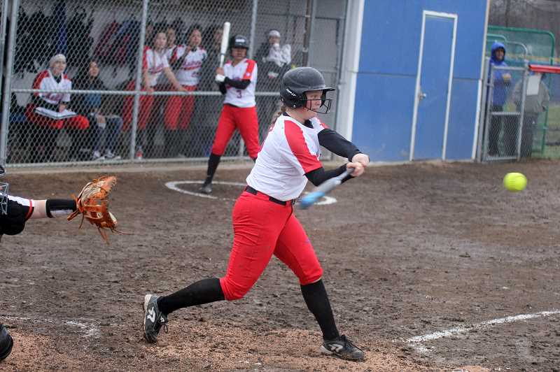STEELE HAUGEN - Hannah Holliday (pictured) and Delaney Vibbert are both returning for their junior seasons next year. The two have been varsity starters since their freshman seasons and are looking to become strong leaders for the 2020 softball year.