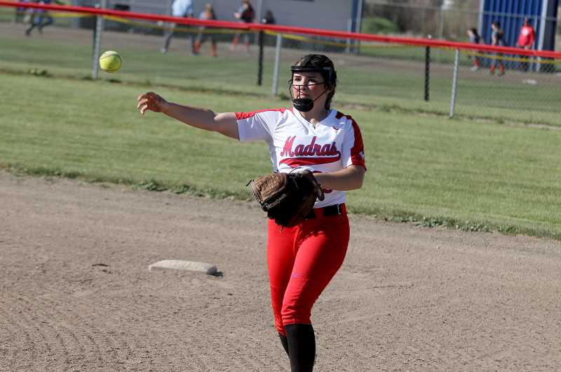 STEELE HAUGEN - Hannah Holliday and Delaney Vibbert (pictured) are both returning for their junior seasons next year. The two have been varsity starters since their freshman seasons and are looking to become strong leaders for the 2020 softball year.