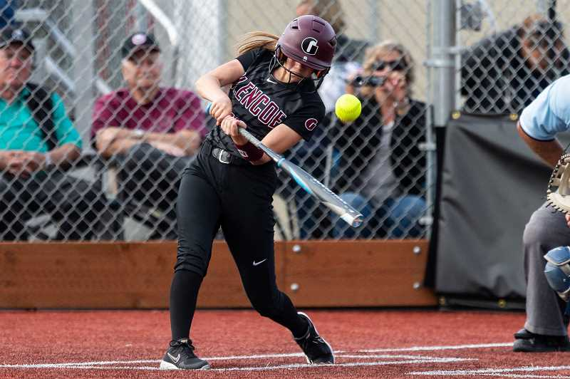 PMG PHOTO: CHRISTOPHER OERTELL - Glencoe's Jensen Becker takes a swing during the Tide's second round playoff game versus Westview Wednesday, May 22, at Glencoe High School.