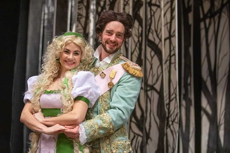 TIDINGS PHOTO: JONATHAN HOUSE - Kelly Sina and Adam Elliott Davis as Rapunzel and Rapunzel's prince in the production of Into the Woods.