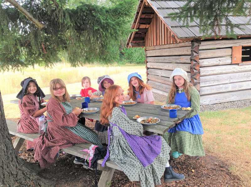 COURTESY PHOTO: PHILIP FOSTER FARM - Campers at Philip Foster Farm this summer will engage with pioneer-era clothing and meals.