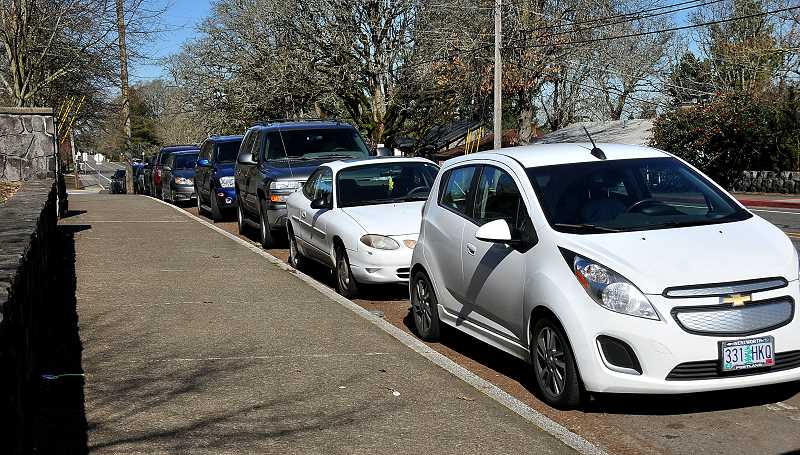 PMG FILE PHOTO - Parking at West Linn High School has long been an issue for both students and nearby neighbors.