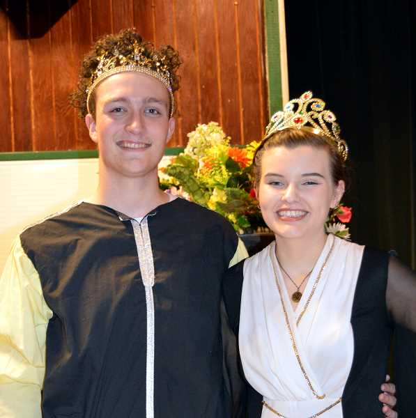 PMG PHOTO: CINDY FAMA - Drama students Cameron Clark and Shyann Myers find confidence on the stage.
