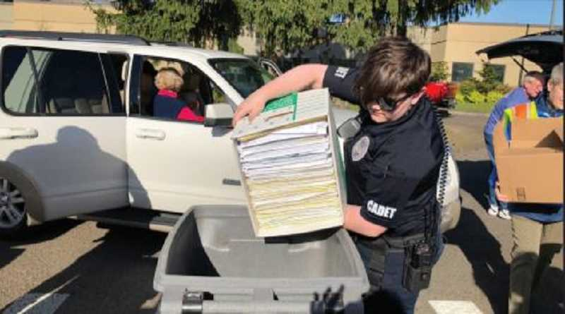 COURTESY TIGARD POLICE DEPARTMENT - Saturdays shred event at Tigard City Hall will allow participants to dispose of  two hand-carry boxes, bags, or containers of paper documents.