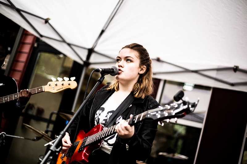 COURTESY PHOTO - Gillian McMahon plays the bass and sings lead vocals in Love Circle.