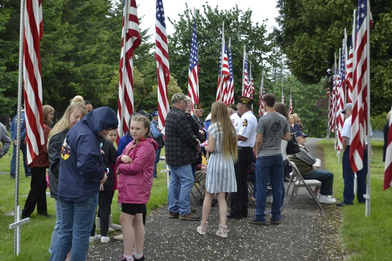 PMG PHOTO: BRITTANY ALLEN - Dozens turned out to the Sandy VFW's Memorial Day ceremony on Monday, May 27.