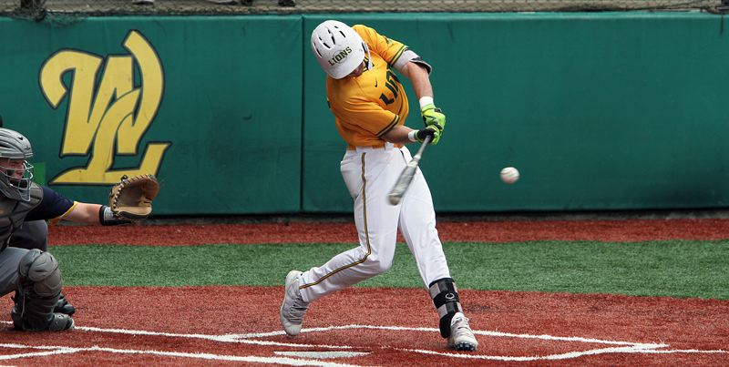 PMG PHOTO: MILES VANCE - West Linn senior J.K. Kelly (shown here against Bend) hit a grand slam home run and racked up five RBIs in his team's 7-6 loss at South Salem in the Class 6A state quarterfinals on Friday, May 24.