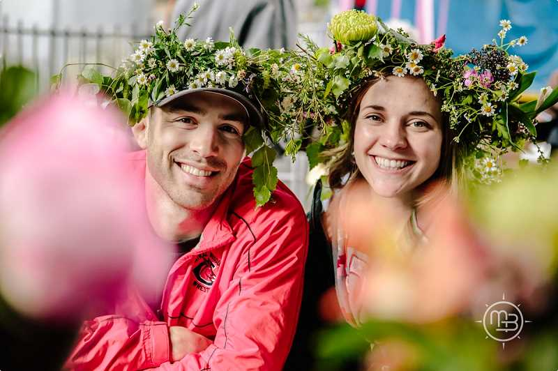 COURTESY PHOTOS  - You can make floral wreaths like these at Midsummer Fest taking place June 8 at Oaks Park in Portland. All are welcome to celebrate the Nordic festival.