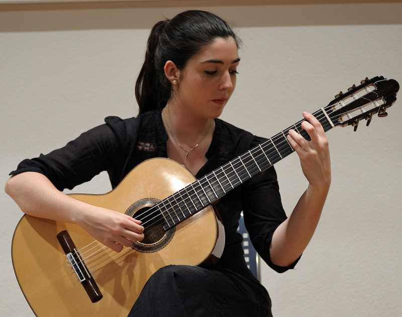 COURTESY PHOTO  - Andrea Gonzales Caballero from Spain will present a classical guitar concert June 7 at Eliot Chapel in Portland.