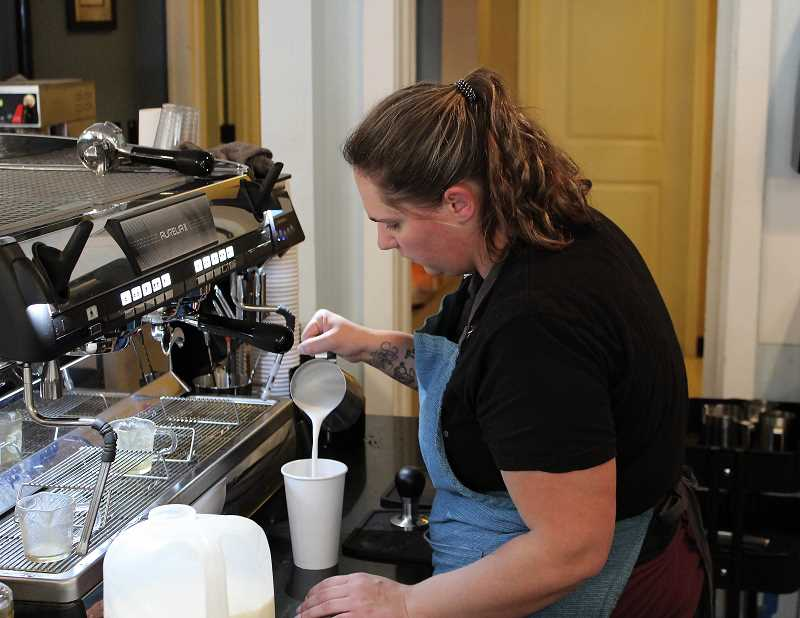 PMG PHOTO: SHELBY COKELEY - Good Intentions serves fresh coffee, lattes and other specialty beverages.