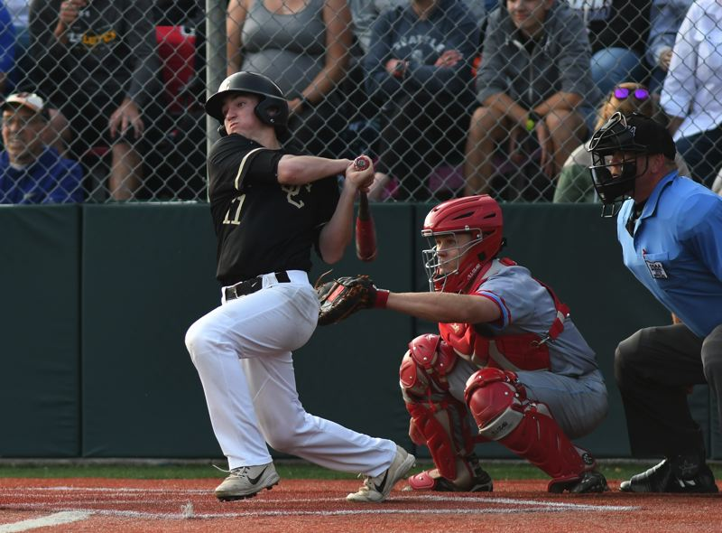 COURTESY PHOTO: BRIAN MURPHY - Jesuit star infielder Kevin Blair tied for a team-high three base hits against South Salem.