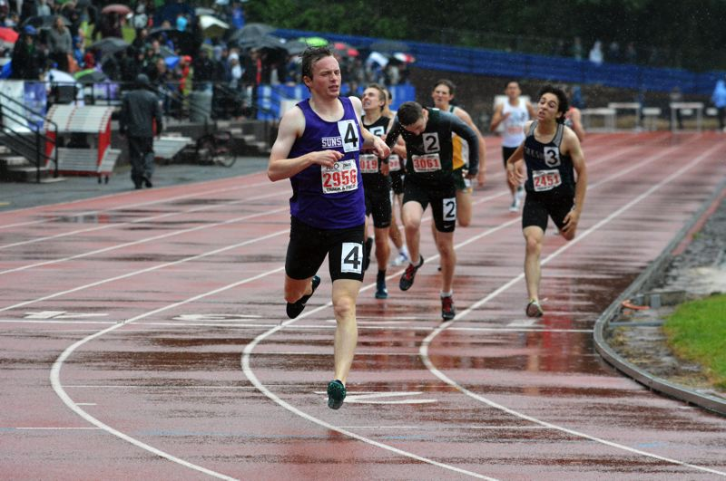 TIMES PHOTO: MATT SINGLEDECKER - Sunset senior Ethan Reese won his second straight 800 meter Class 6A state championship last weekend.