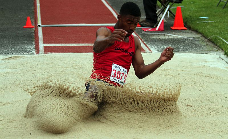 TIMES PHOTO: MILES VANCE - Westview junior Wayne Jamison took third in the Class 6A triple jump last week.