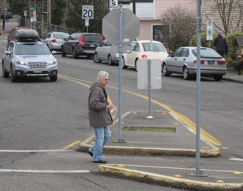 The median on Capitol Highway at Southwest 35th will be shored up as part of the PBOT project set to start in mid-May.