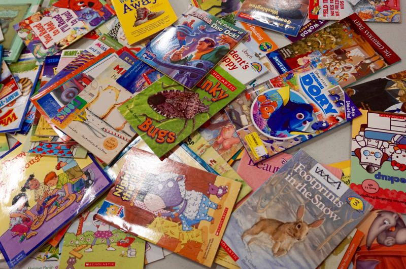 PMG PHOTO: CLAIRE HOLLEY - Students brought books of various genres and reading levels to share with their classmates.
