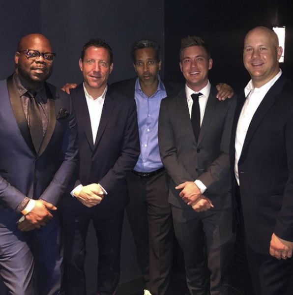 COURTESY: PAUL LOVING  - Loving on Instagram: Hanging with some honchos (right) at the ESPY awards @jrdup21@cwmagoo @brennanrusso @boltink (JR Duperrier, Chris McGuire, Brennan Russo and Kris Boltin.)