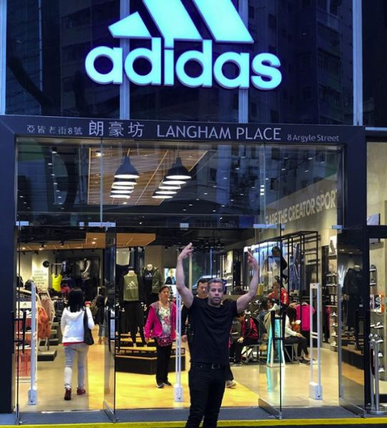 COURTESY: PAUL LOVING  - Loving on Instagram: Flexing at Adidas in Hong Kong.